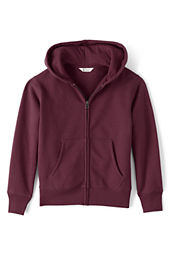 School Uniform Hooded Zip-front Sweatshirt