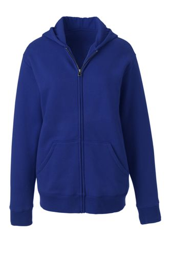 Winter fleece robe zip front