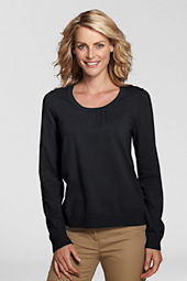 Women's Long Sleeve Soft Rayon Blend Scoopneck Top