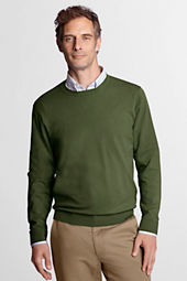 Men's Long Sleeve Soft Rayon Blend Crew Sweater
