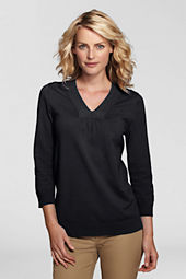 Women's Petite 3/4-sleeve Soft Rayon Blend Tunic Top