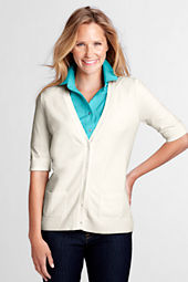 Women's Soft Rayon Blend V-neck Cardigan Sweater