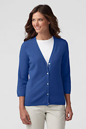 Women's Petite Performance 3/4-sleeve V-neck Cardigan