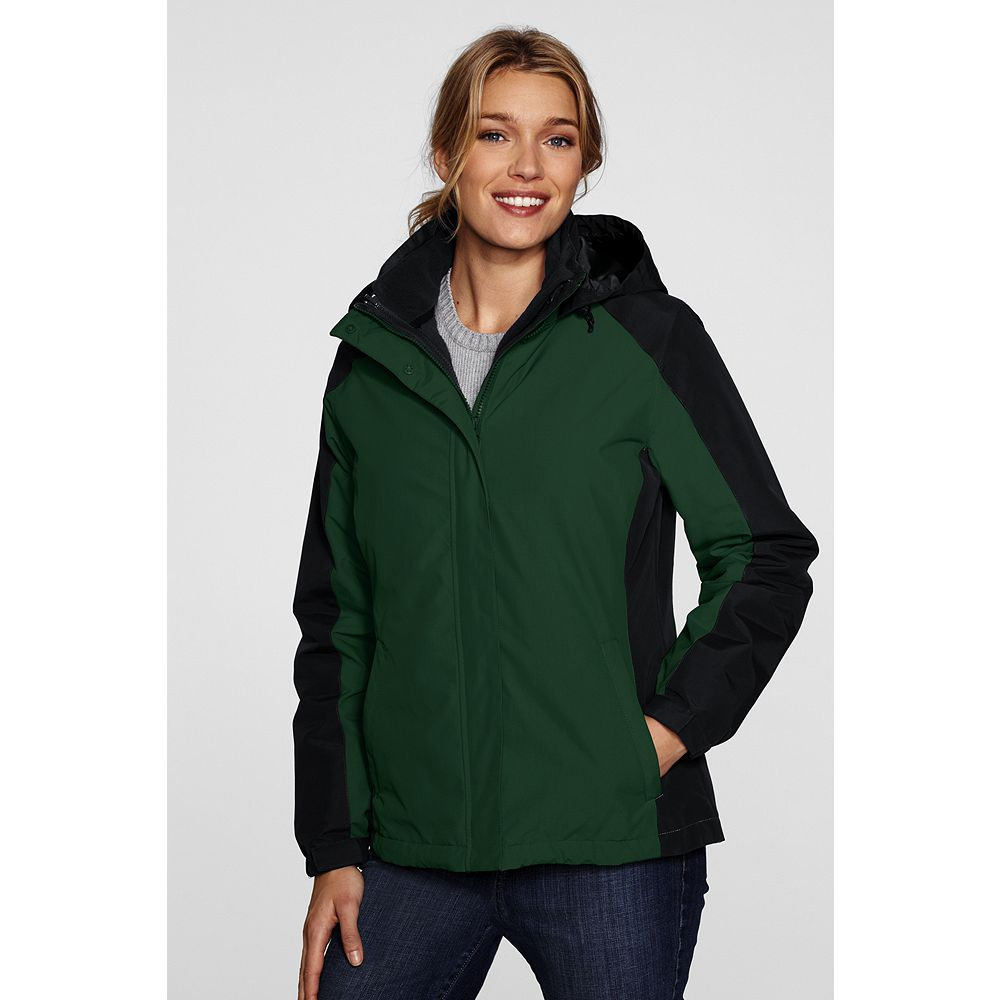 Lands' End Women's Regular Colorblock 3-in-1 Squall Jacket at Sears.com