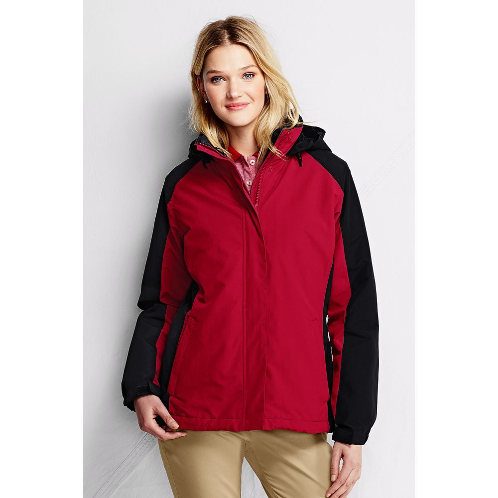 Lands' End Women's Plus Size Colorblock 3-in-1 Squall Jacket at Sears.com