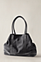 Women's Suede Snap Tote from Lands' End :  suede lined bag shoulder