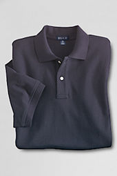 Men's Short Sleeve Blue Mesh Polo
