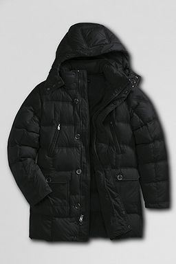 Quilted Down Parka: Black