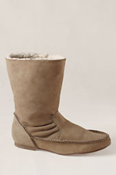 Canvas Women's Suede Shearling Moccasin Boot