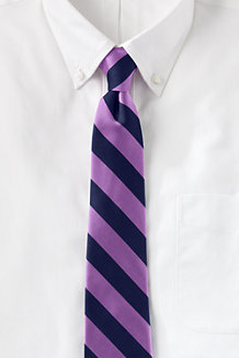 Men's Wide Stripe Hand-sewn Silk Tie
