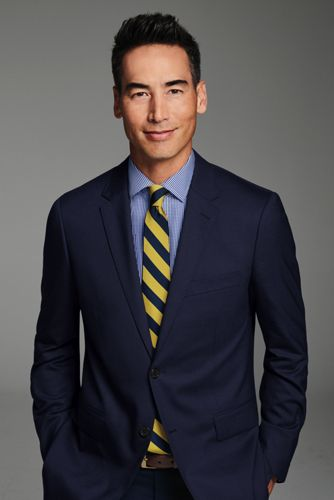 Men's Long Wide Stripe Tie