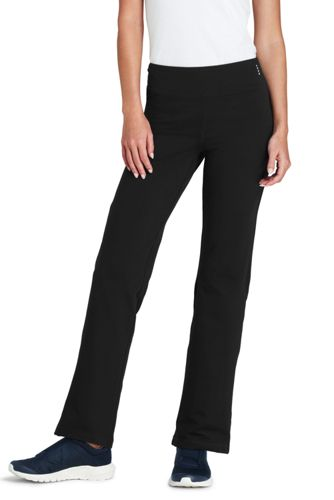 Womens Regular Control Bootcut Workout Pants - 8 - BLACK Lands End Clearance New Arrival Cheap Sale 2018 New Outlet Locations Online With Mastercard FgMvC