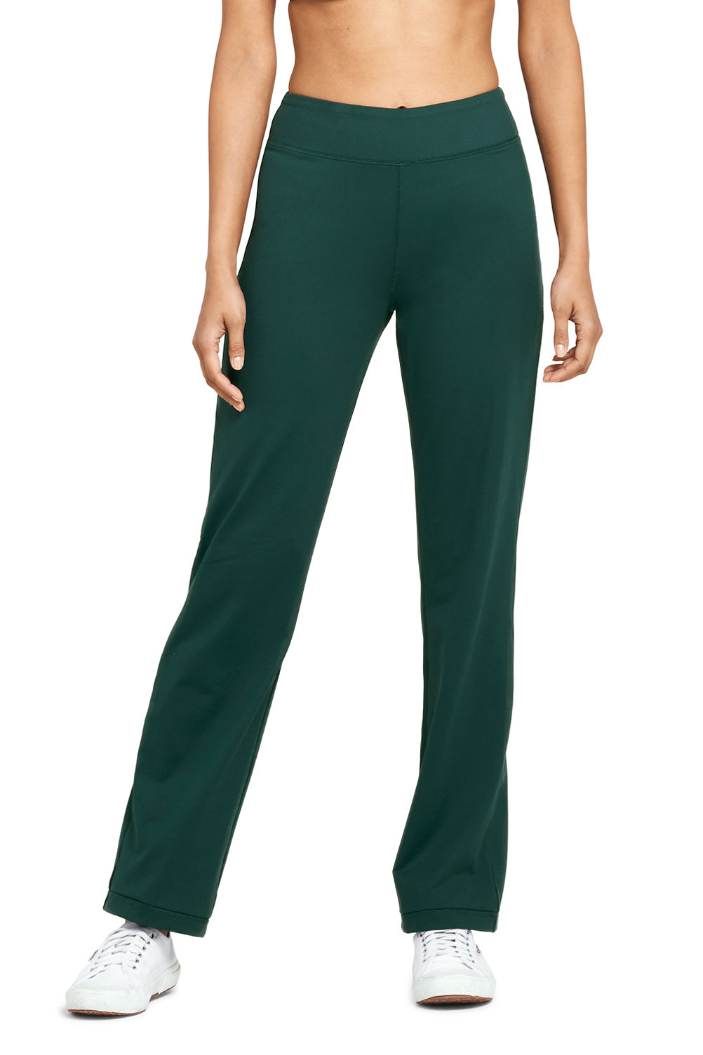 womens active yoga pants from lands end