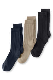 School Uniform Kids Cotton Ribbed Sock (3-pack)