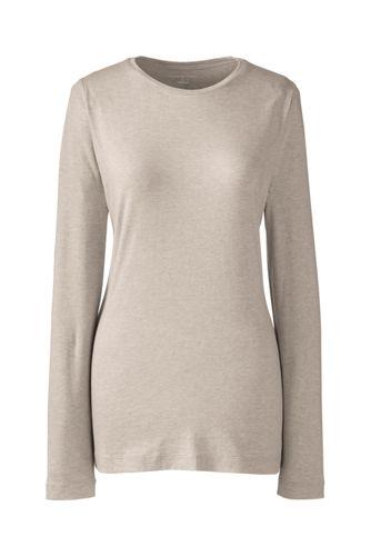 Women's Regular Cotton/Modal Plain Crew Neck Tee
