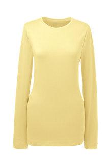 Women's Long Sleeve Cotton/Modal Crew