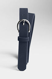 Girls' Skinny Faux Suede Leather Belt