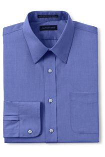 Men's Tailored Fit Straight Collar No Iron Pinpoint Shirt