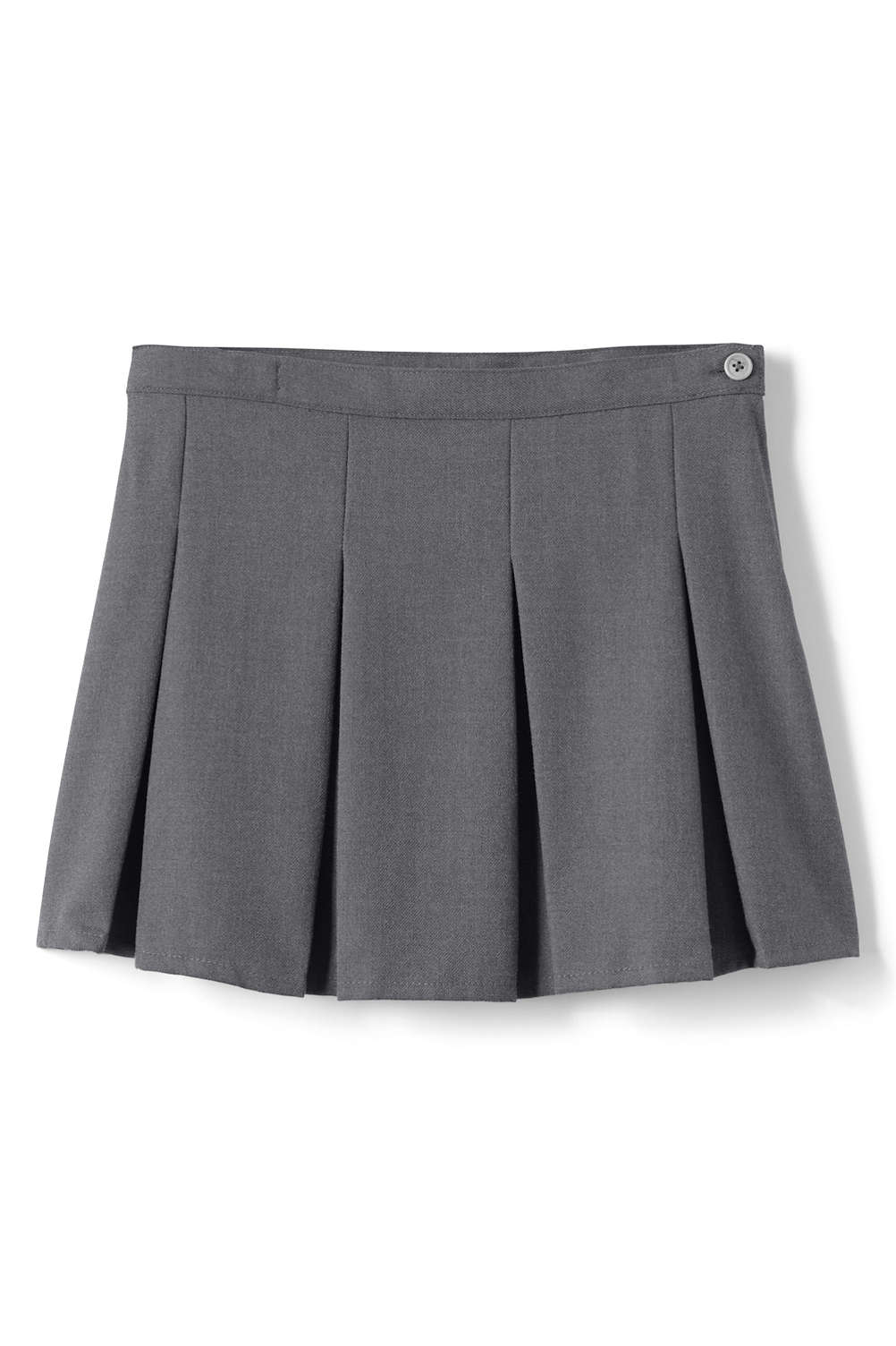 0d6ff571e43 Girls Solid Box Pleat Skirt Above Knee from Lands  End