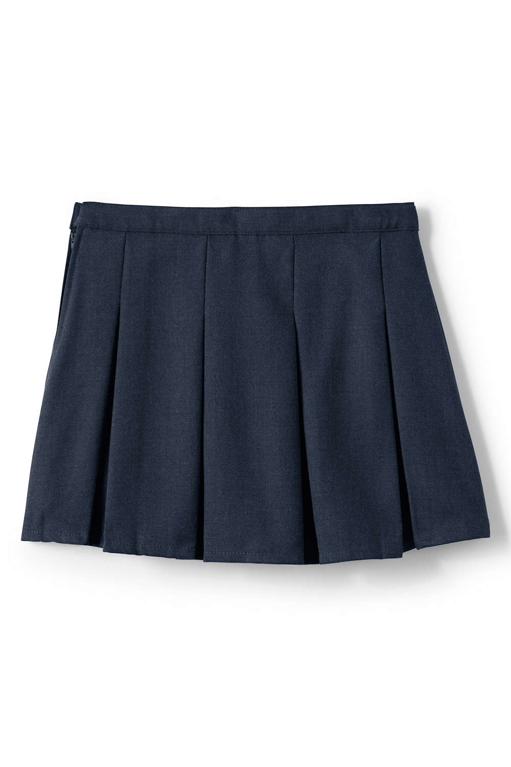 69ddc3e411f School Uniform Solid Box Pleat Skirt Above Knee from Lands  End