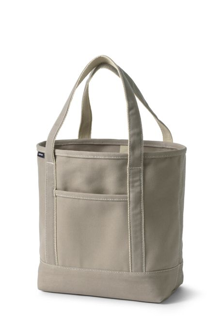 Solid Color Open Top Canvas Tote Bag