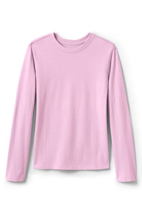 School Uniform Little Girls Long Sleeve Essential T-shirt