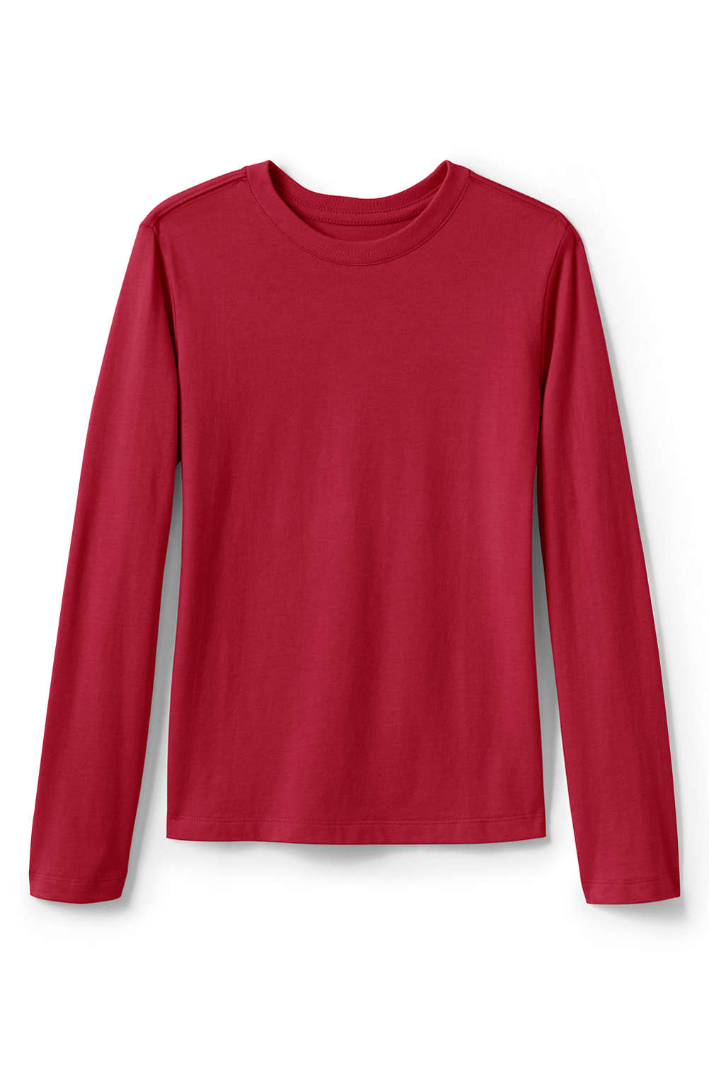 4bf9a9e93fb44 Girls Long Sleeve Fem Fit Essential Tee from Lands  End