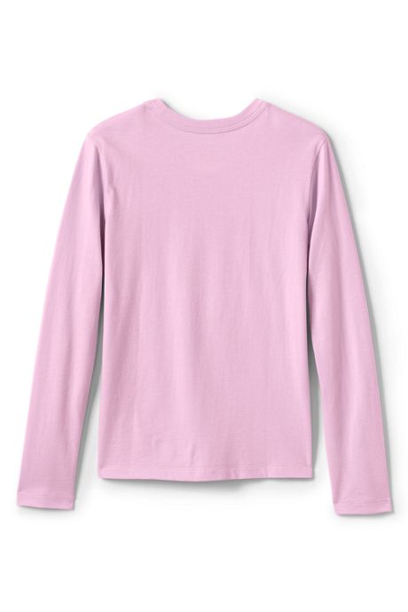 School Uniform Girls Long Sleeve Fem Fit Essential Tee