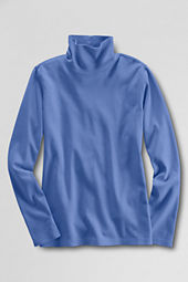Women's Long Sleeve Solid Interlock Turtleneck