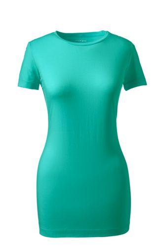 Baumwoll-Viskose-Shirt mit rundem Ausschnitt
