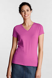 Women's Short Sleeve Lightweight Cotton Modal V-neck T-shirt