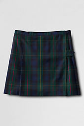 Girls' Plaid Side Button Kilt Skirt