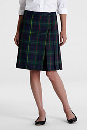 Women's Plaid Side Button Kilt Skirt