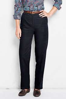 Women's Back-Elastic Tapered Cord Trousers