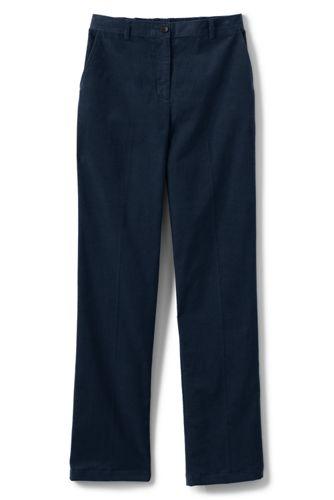Le Pantalon en Velours Côtelé Fine Maille Taille Élastique