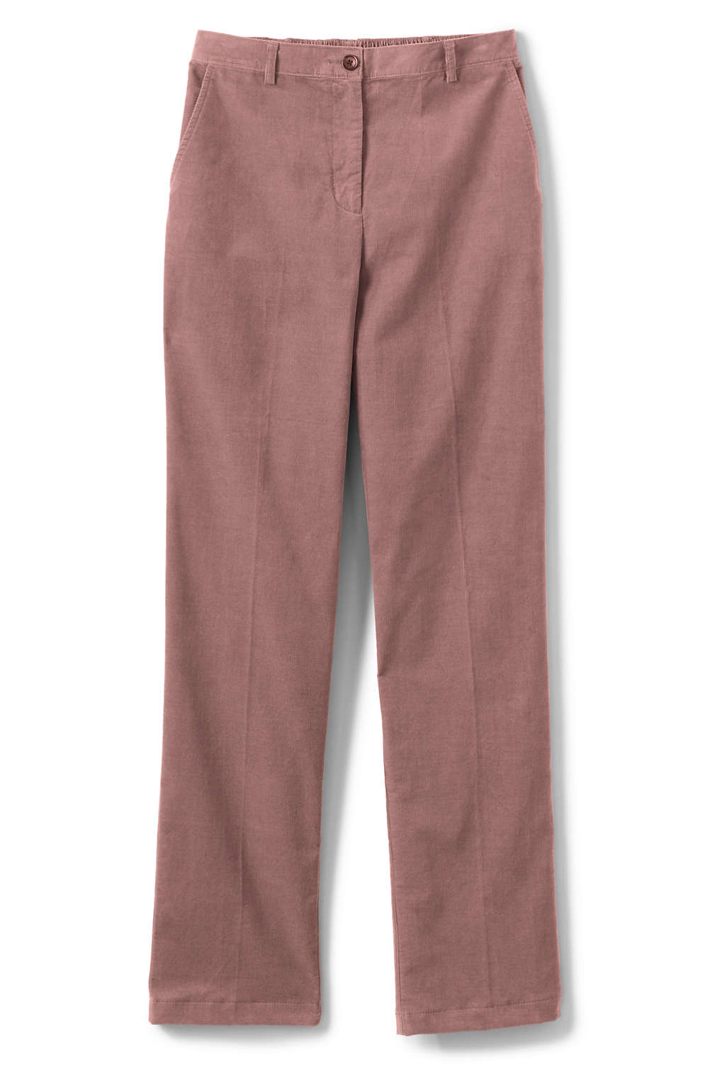 Women s Fit 3 Elastic Back 21-wale Corduroy Pants from Lands  End 58c6edaa35