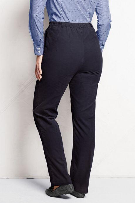 Women's Plus Size Petite 7 Day Elastic Back Corduroy Pants