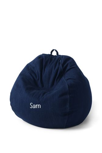Regular Solid Bean Bag Cover by Lands' End