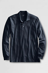 Men's Tailored Long Sleeve Pima Polo Shirt