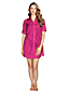 Women's Regular Plain Cotton Lawn Shirtdress Cover-up