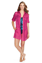 Women's Plain Shirtdress Cover-up