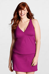 Women's Plus Size Beach Living V-neck Tankini Top
