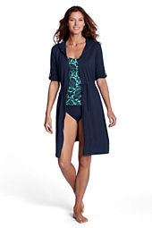 Women's Cotton Jersey Roll Sleeve Cover-up
