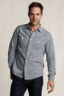 Heritage Striped Chambray Workshirt 401084: Engineer Stripe