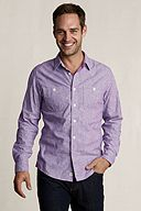 Heritage Striped Chambray Workshirt 401084: Violet Engineer Stripe