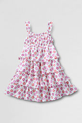 Girls' Tiered Woven Dress