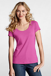Women's Short Sleeve Cotton/Modal Scoop Neck