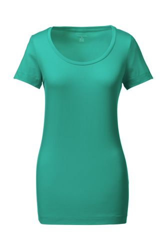 Baumwoll-Viskose-Shirt mit weitem rundem Ausschnitt