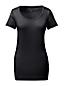 Le T-Shirt Col Ballerine Large Uni Manches Courtes Femme, Taille Standard