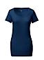 Baumwoll/Viskose-Shirt mit weitem rundem Ausschnitt